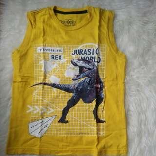 Kaos kutung Harian Anak Dino kuning