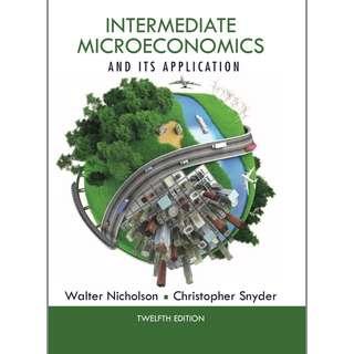 Intermediate Microeconomics and it's Application 12th Edition