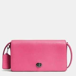 Coach Pink Dinky Crossbody Sling Bag