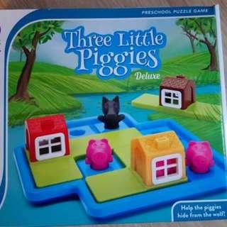 Three Little Piggies - PreSchool Puzzle Game