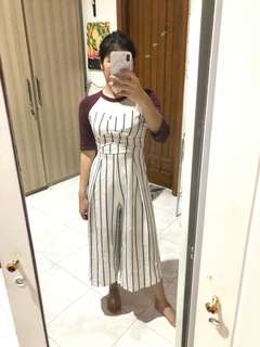 Long stripe jumpsuit