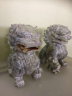 Chinese Stone Lion Sculpture