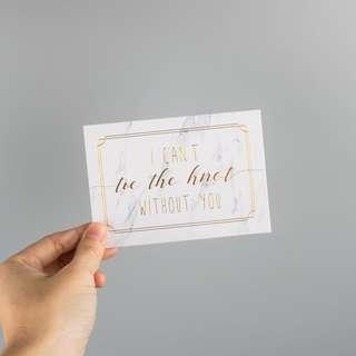 Bridesmaid card 1