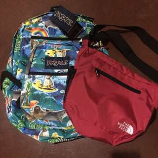 AUTHENTIC BAGS BUNDLE (JANSPORT AND NORTH FACE)
