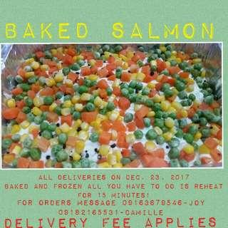 Frozen Baked Salmon