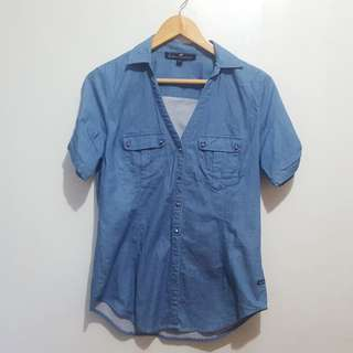 Kamiseta denim polo top