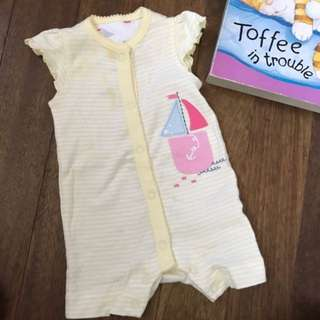 Mothercare Yellow Striped Romper