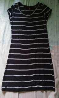 Body con dress (black)