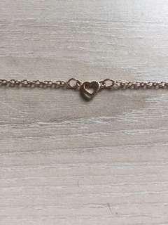 Heart bracelet/anklet