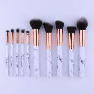 10x Marble Makeup brushes