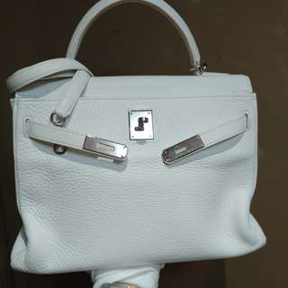 Hermes kelly 32 white
