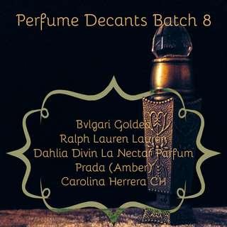 Perfume Decants Batch 8
