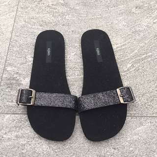 Velvet with glitters Slippers m)phosis