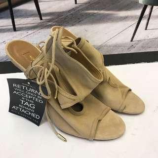 全新 Aqquazzura Firenze Seude Leather Sandals