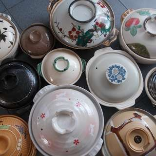 Assorted Japanese Clay Pots
