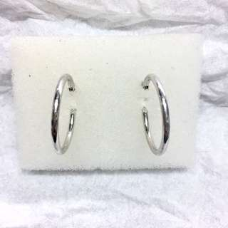14K Loop Earrings 1.8g