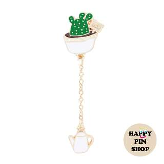 Plump Cactus Pin with chain