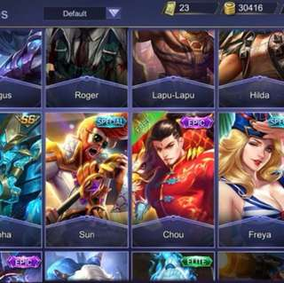 Mobile legend account *IOS*