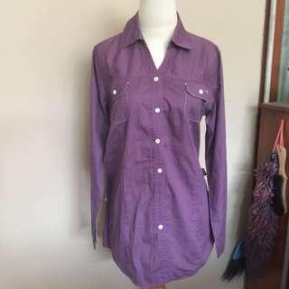 KEMEJA Panjang ungu #makintebel
