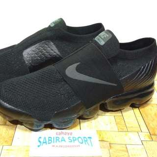 Sepatu Nike Air Vapormax Flynit OffWhite Fullblack Slip On.