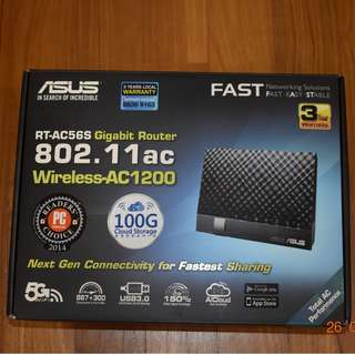 ASUS RT-AC56S Gigabit Router 802.11ac Wireless-AC1200