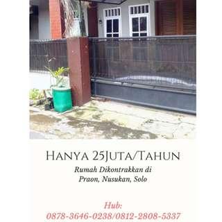 Dekat Pasar Nusukan, 0878-3646-0238, Dikontrakkan Rumah Daerah Nusukan Solo