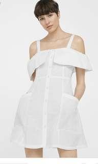 Mango off the shoulder linen dress