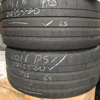 245/35/20 michelin pss used tyre $90