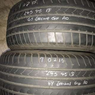 245/45/18 goodyear used tyre $50pc
