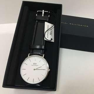 DW黑色皮錶40mm