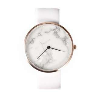 雲石紋手錶【真雲石】(白帶白面)