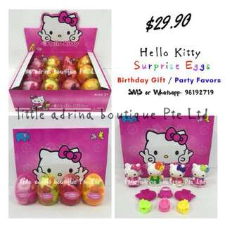 Hello Kitty Surprise Eggs / Party Favor / Birthday Gift