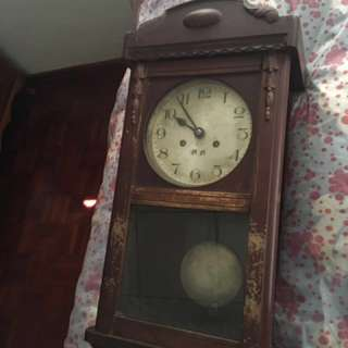 Antique wall clock from china
