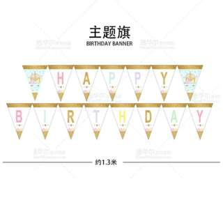 "Unicorn ""HAPPY BIRTHDAY"" Banner (Rental)"