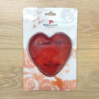 Heat In A Click Heart Shaped Hot/Cold Gel Heat Pads