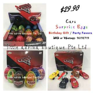 Cars Surprise Eggs / Party Favor / Birthday Gift