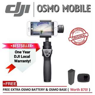 DJI Osmo Mobile Gimbal/Local 1 Year Warranty/Ready Stock! (Black)