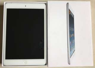 Ipad mini 1 white 16gb wifi + cellular