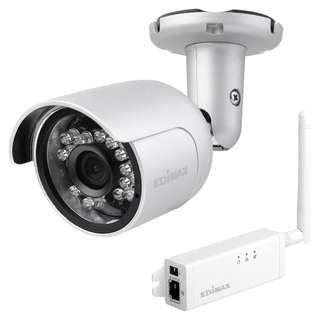 Edimax HD Wi-Fi Mini Outdoor Network Camera with 108o Wide Angle View, Day & Night IC-9110W