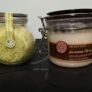 [buy 1 get 1 free] The body shop spa wisdom skin exfoliation salt