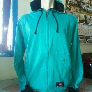 jaket zipper hoodie biru tosca