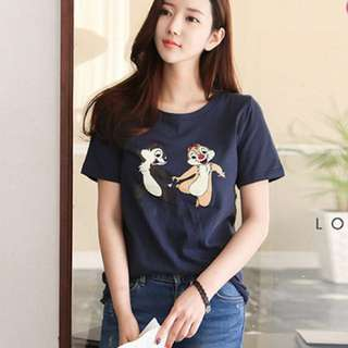 Authentic Korea Disney Chipmunk Shirt