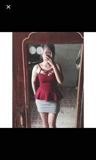 2 in 1 top and skirt