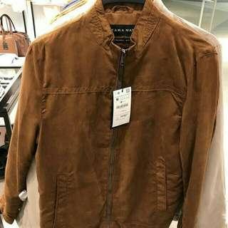 Zaraman faux suede jacket jaket