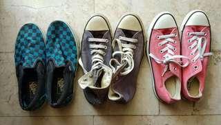 Converse and Vans sneakers