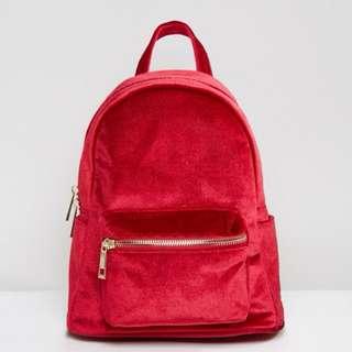 Brand New Qupid Velvet bagpack