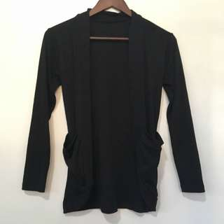 Black Cardigan (with pockets)