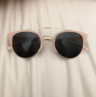 Nude and rose gold glasses