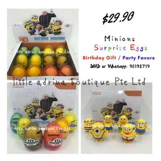 Minions Surprise Eggs / Party Favor / Birthday Gift