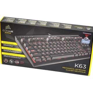 Gaming K63 紅軸紅光 機械式鍵盤Corsair™